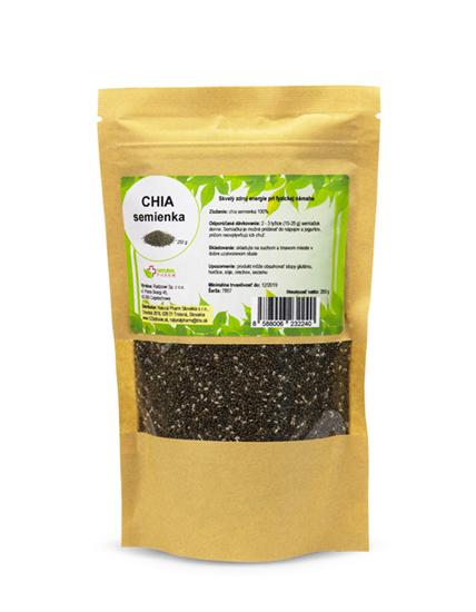 Obrázok Chia semienka 250 g Expirácia 07/201