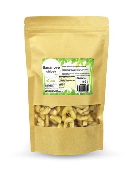 Obrázok Banánové chipsy 250 g Expirácia 07/2021
